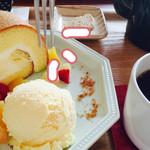 50199291 - ドリンク代+200円(ロールケーキ、フルーツ)+100円(アイスクリーム) 狙われてます…^^;