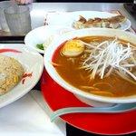 拉麺本家夢屋 - カレーラーメンと半チャーハンのセット