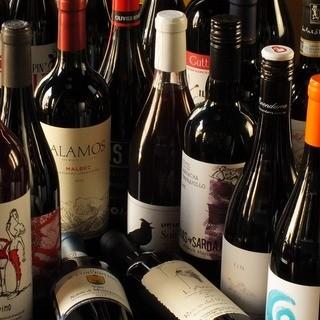 旬の魚介・食材を60種類以上の自然派ワインと…。