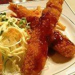 さかゑちゃん食堂 - エビフライ定食