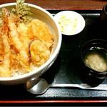 海鮮問屋 海ぼうず - 海老天丼1058円