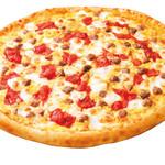 ピザ・ロイヤルハット - 水牛のモッツァレラとイタリアンソーセージ  SS\650 S\1,240 M\2,120 L\3,760