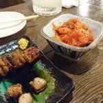 筑前屋 - ホルモン串(食べかけですいません)