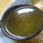 朝市ラーメン - 塩のスープです