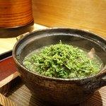 日本料理 太月 - 牛鍋にたっぷりの花山椒