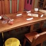 キャラヴァンサライ包 - 中央の大テーブル