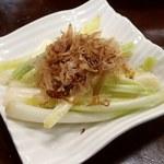 がんじゅう堂 - 島らっきょうの塩漬け;辛味は辣韭やエシャレットより軽く食べ易い @2016/04/20