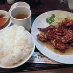 kei楽 - ぷりぷり鶏焼(タレ)定食
