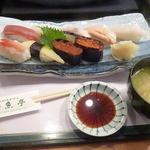 おたる 魚亭 - 磯寿司セット 2016.4月
