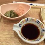 築地食堂 源ちゃん - 漬物と丼用醤油