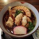 逗子寿徳庵 - 料理写真:カキの天ぷらそば