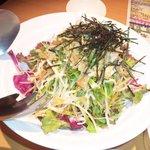 居酒屋のんのん - 水菜と大根のサラダ青紫蘇ドレッシング