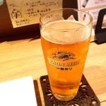 鳥男 - ドリンク写真:生ビール!