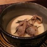千翠 - 浅利とホワイトアスパラの茶碗蒸し 春の名物