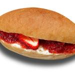 パン屋のオヤジ - 料理写真:クリームチーズといちごのコッペ
