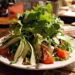 肉屋 カーニバル - 飲み放題付のラムのコース(5000円)のパクチーサラダ