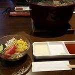 本格七輪 炭火焼肉 炭咲 - ランチサラダ