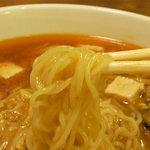 めん工房担々 - 麺は、細麺