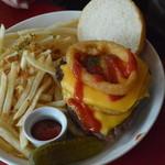 55食堂 - 55ハンバーガー シングル 直径20cmくらい