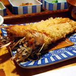 かつ吉 - 天然特大海老フライ定食