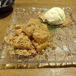 泳ぎイカ 九州 うまか - 種子島黒糖わらび餅~バニラアイス添え~