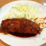 キッチンまつむら - デカメンチ定食680円