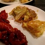 美珍楼 - 赤酢鶏と焼きそば、玉子料理