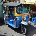 50256504 - 青いトゥクトゥク(三輪自動車)