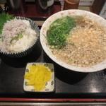 二条庵 - そば定食 500円 (2016.4)