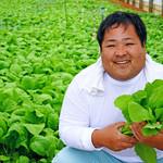 炭焼家 てんぷす - 地元エコ野菜農家の大城さん