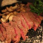 イタリアン食堂 良's - 黒毛和牛サーロインのソルト&ペッパー
