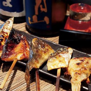 備長炭ならでは!大人気の串焼き魚