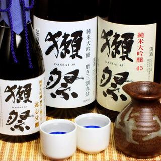 獺祭、久保田、八海山etc.プレミアムな日本酒が勢揃い