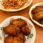 サイゼリヤ - 辛味チキンとパルマ風スパゲッティ (2016.04.現在)