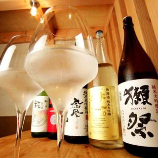 常時30種類以上!人気銘柄から希少な日本酒まで