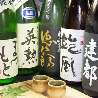 5000円宴会コース各種の飲み放題に京都の地酒追加!