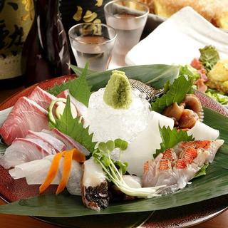 【5000円宴会メニュー内容】お造り5種盛りにグレードアップ