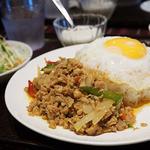 タイ料理 パヤオ - ガパオセット(¥750)