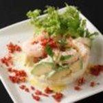 渋谷キリストンカフェ - 海老とアボカドのポテトサラダ