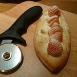 果実園 リーベル 目黒店 - 白いちごのピザ