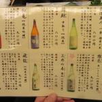 汐見 - おすすめの酒(2016/4)