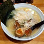 50291462 - 麺や七福(鶏白湯・白醤油 864円)※クーポンで煮玉子トッピング