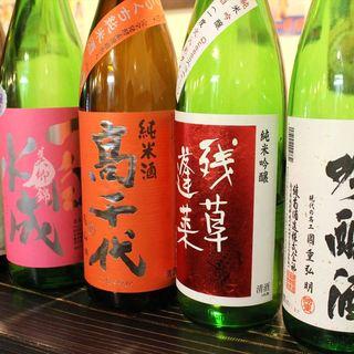 旨い日本酒を20種以上常備