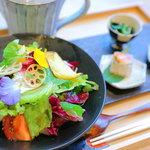だし処 兵四郎 - 彩り野菜だしかけ膳 1200