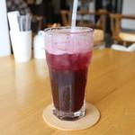 つむじカフェ - ブルーベリーソーダ