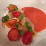 50299419 - 生帆立、ブッラータ、トマトと苺のガスパチョ
