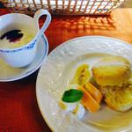 自家焙煎珈琲豆工房 ほの香 - ヨーグルトとスコーン