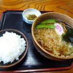 眞作庵 - 料理写真:たぬきそば&小ライス