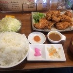 50300461 - たれ唐あげ定食(大盛)【料理】