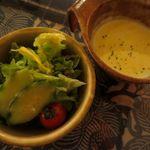50300513 - サラダ&コーンスープ